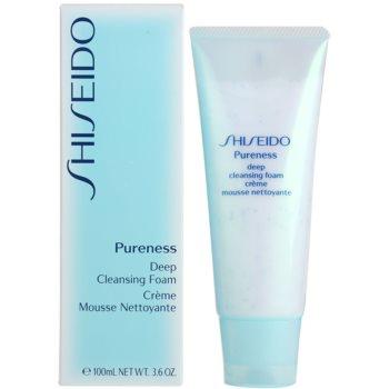 Shiseido Pureness spuma cremoasa pentru o curatare profunda cu micro granule 1