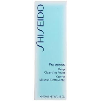 Shiseido Pureness spuma cremoasa pentru o curatare profunda cu micro granule 2