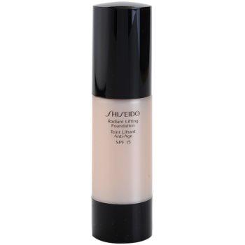 Shiseido Base Radiant Lifting machiaj pentru lifting cu efect de stralucire SPF 15 culoare B60 Natural Deep Beige 30 ml
