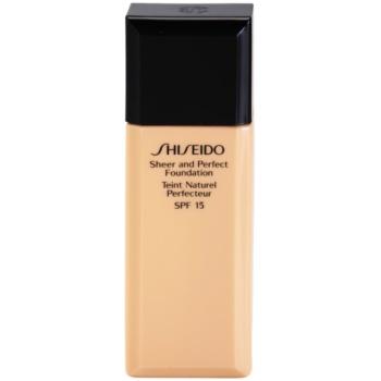 Shiseido Base Sheer and Perfect base líquida SPF 15