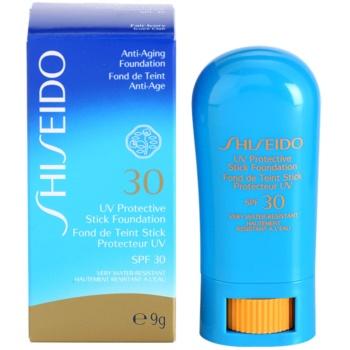 Shiseido Sun Foundation Base protetora à prova de água em stick SPF 30 1