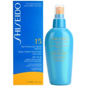 Shiseido Sun Protection spray pentru bronzat SPF 15 2