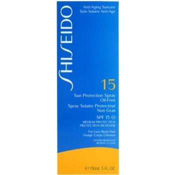 Shiseido Sun Protection spray pentru bronzat SPF 15 3