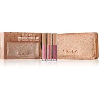 Sigma Beauty Rendezvous Beloved Mini Lip Set set cu luciu de buze (cu particule stralucitoare) imagine produs