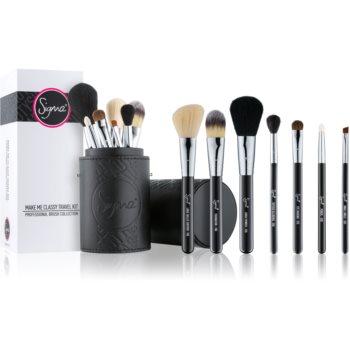 Sigma Beauty Travel Kit set e pensule cu husa pachet pentru calatorie  8 buc