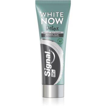 Signal White Now Detox Charcoal bleichende Zahnpasta mit Aktivkohle 75 ml