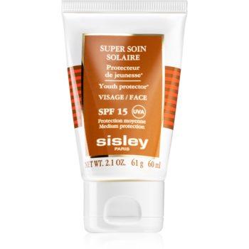 Sisley Super Soin Solaire protectie solara rezistenta la apa pentru fata SPF 15