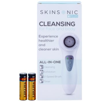 Skinsonic +Plus Cleansing Electric Brush on Face 2
