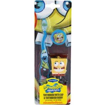 SmileGuard SpongeBob четка за зъби за деца с калъфче и ключодържател софт
