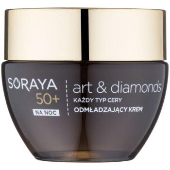 Soraya Art & Diamonds crema de noapte cu efect de intinerire cu pulbere de diamante