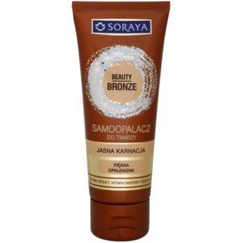 Soraya Beauty Bronze crema autobronzanta pentru fata pentru o piele luminoasa