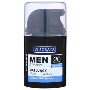 Soraya MEN Adventure 20+ mattierende Creme mit feuchtigkeitsspendender Wirkung für Herren