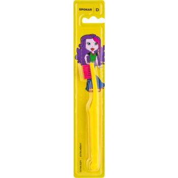 Spokar D 3432 Extra Soft periuta de dinti pentru copii