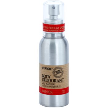 Sportique Wellness Wild Rose deodorant spray natural