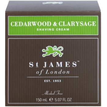 St. James Of London Cedarwood & Clarysage Rasiercreme für Herren 1