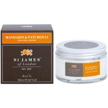 St. James Of London Mandarin & Patchouli crema pentru barbierit pentru barbati 150 ml