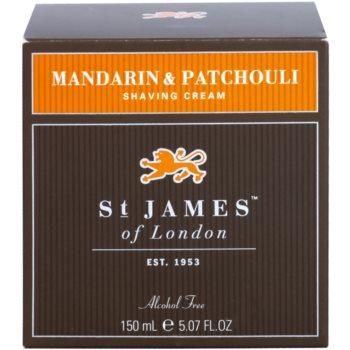 St. James Of London Mandarin & Patchouli Shaving Cream for Men 1