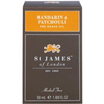 St. James Of London Mandarin & Patchouli Shaving Oil for Men 1