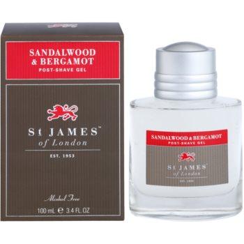 St. James Of London Sandalwood & Bergamot żel po goleniu dla mężczyzn
