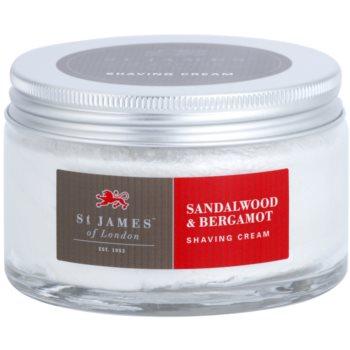 St. James Of London Sandalwood & Bergamot крем для гоління для чоловіків 2