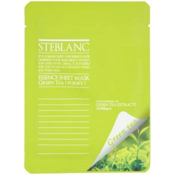 Steblanc Essence Sheet Mask Green Tea masca pentru curatare si calmare
