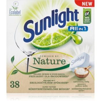 Sunlight All in 1 Powered by Nature tablete pentru ma?ina de spãlat vase imagine produs