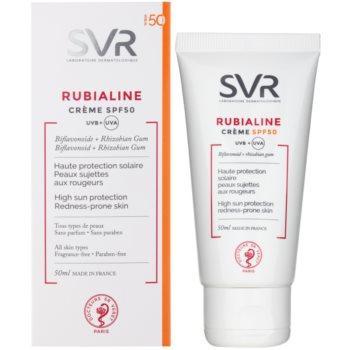 SVR Rubialine creme protetor para pele sensível com tendência a aparecer com vermelhidão SPF 50 1