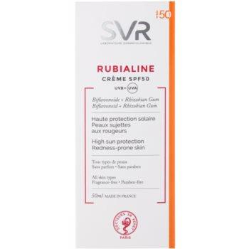 SVR Rubialine creme protetor para pele sensível com tendência a aparecer com vermelhidão SPF 50 2