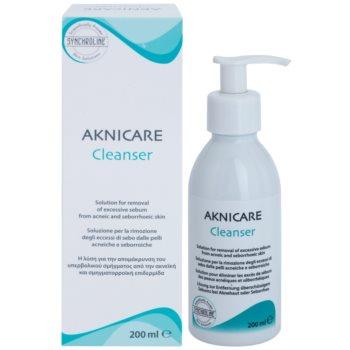 Synchroline Aknicare čisticí gel k redukci kožního mazu aknózní a seboroické pleti 1