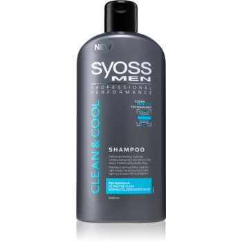 Syoss Men Clean & Cool ?ampon pentru par normal spre gras imagine produs