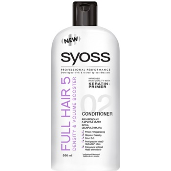 Syoss Full Hair 5 Density & Volume Balsam pentru parul lung si subtire