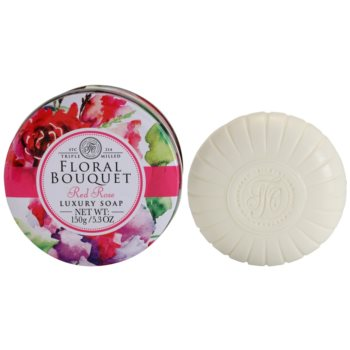 The Somerset Toiletry Co. Floral Bouquet Red Rose luxusné tuhé mydlo 1