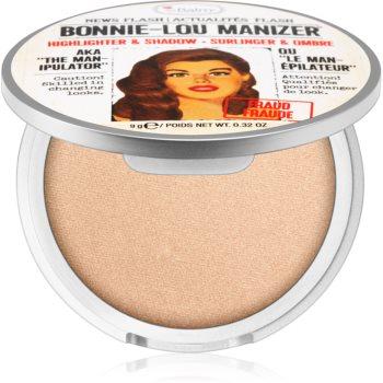 theBalm Bonnie - Lou Manizer corector iluminator, pudra cu efect de stralucire si fard de ochi intr-unul singur imagine produs