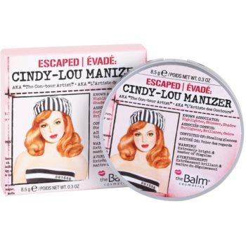 theBalm Cindy – Lou Manizer corector iluminator, pudra cu efect de stralucire si fard de ochi intr-unul singur  8,5 g
