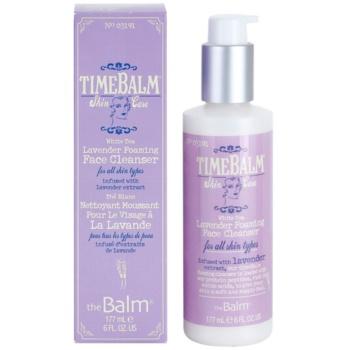 theBalm TimeBalm Skincare Lavender Foaming Face Cleanser gel de curatare spumant pentru toate tipurile de ten