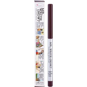 theBalm Mr. Write (Now) eyeliner khol culoare Scott B. Bordeaux/Deep Purple 0,28 g