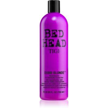 TIGI Bed Head Dumb Blonde kondicionér pro chemicky ošetřené vlasy 750 ml