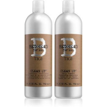 TIGI Bed Head B for Men Clean Up šampon 750 ml + Peprmint kondicionér 750 ml