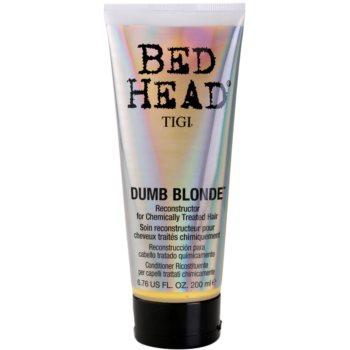 TIGI Bed Head Dumb Blonde balsam pentru parul tratat chimic