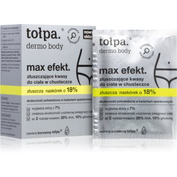 Tołpa Dermo Body Max Efekt servetele pentru curatare cu efect exfoliant poza noua