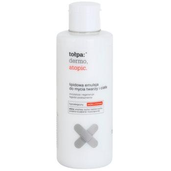 Tołpa Dermo Atopic Reinigungsemulsion mit Lipiden Für Gesicht und Körper