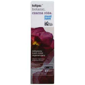Tołpa Botanic Black Rose нощен регенериращ крем за суха до чувствителна кожа 2
