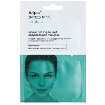 Tołpa Dermo Face T-Zone masca-peeling-gel 4 in 1 pentru tenul gras, predispus la acnee