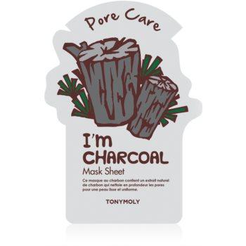 TONYMOLY I'm CHARCOAL masca pentru celule pentru netezirea pielii si inchiderea porilor imagine