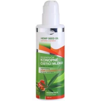 Topvet Hemp Seed Oil regeneráló kenderes tisztító tej testre és arcra 1