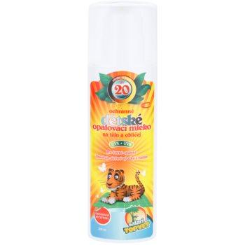 Topvet Safari losjon za sončenje za otroke SPF 20