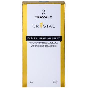 Travalo Crystal Gold nachfüllbarer Flakon mit Zerstäuber unisex 4