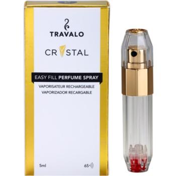 Travalo Crystal Gold nachfüllbarer Flakon mit Zerstäuber unisex