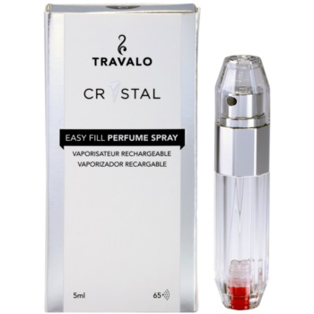 Travalo Crystal Silver vaporizador de perfume recarregável unissexo