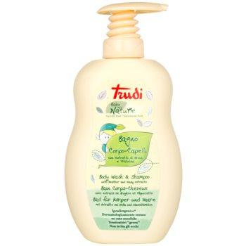 Trudi Baby Nature lapte de corp si sampon pentru copii hipoalergeniccu extracte de margarete si iarba verde   400 ml